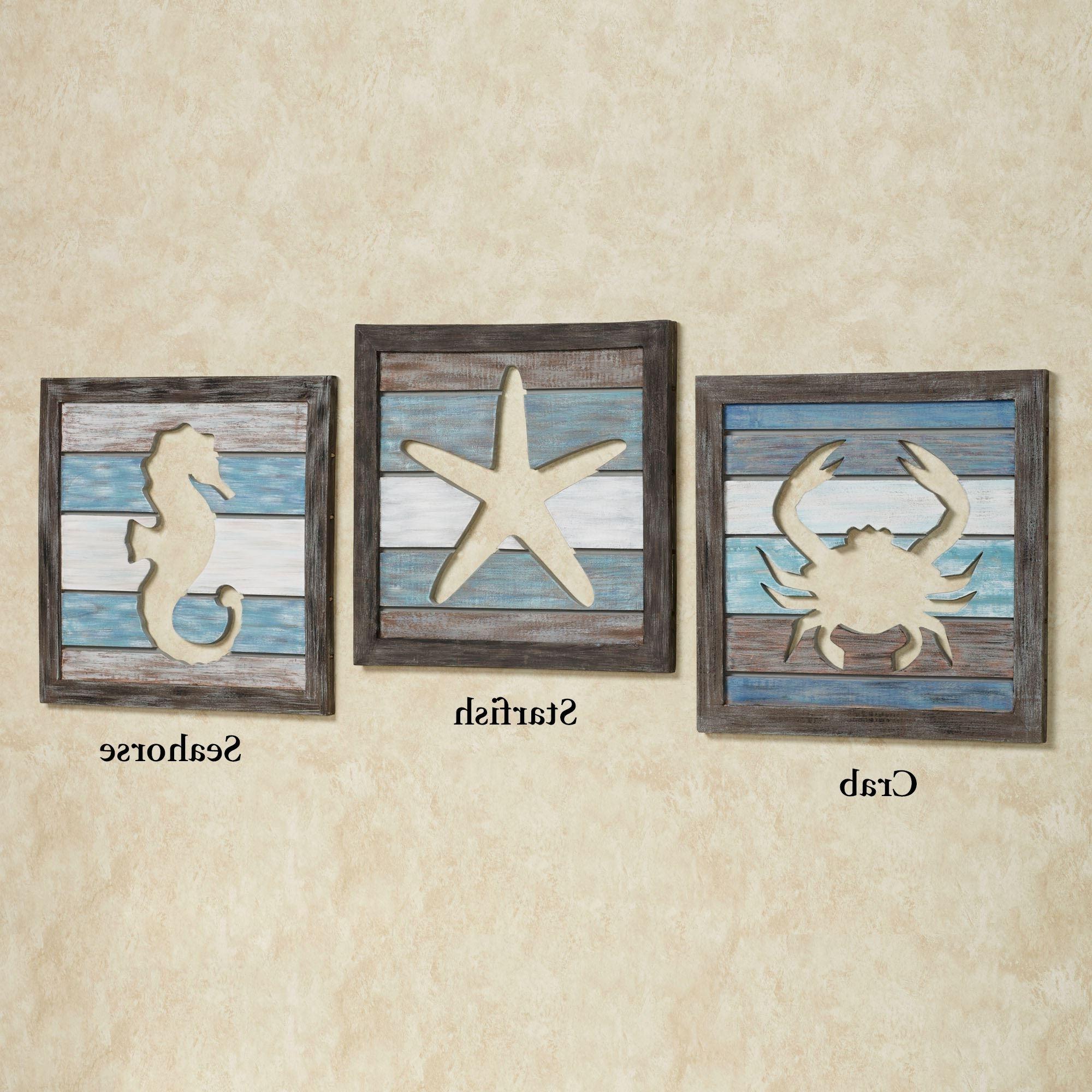 Fashionable Sea Life Wall Art In Coastal Wood Wall Decor Sealife Cutout Slat Indoor Outdoor Coastal (View 7 of 15)