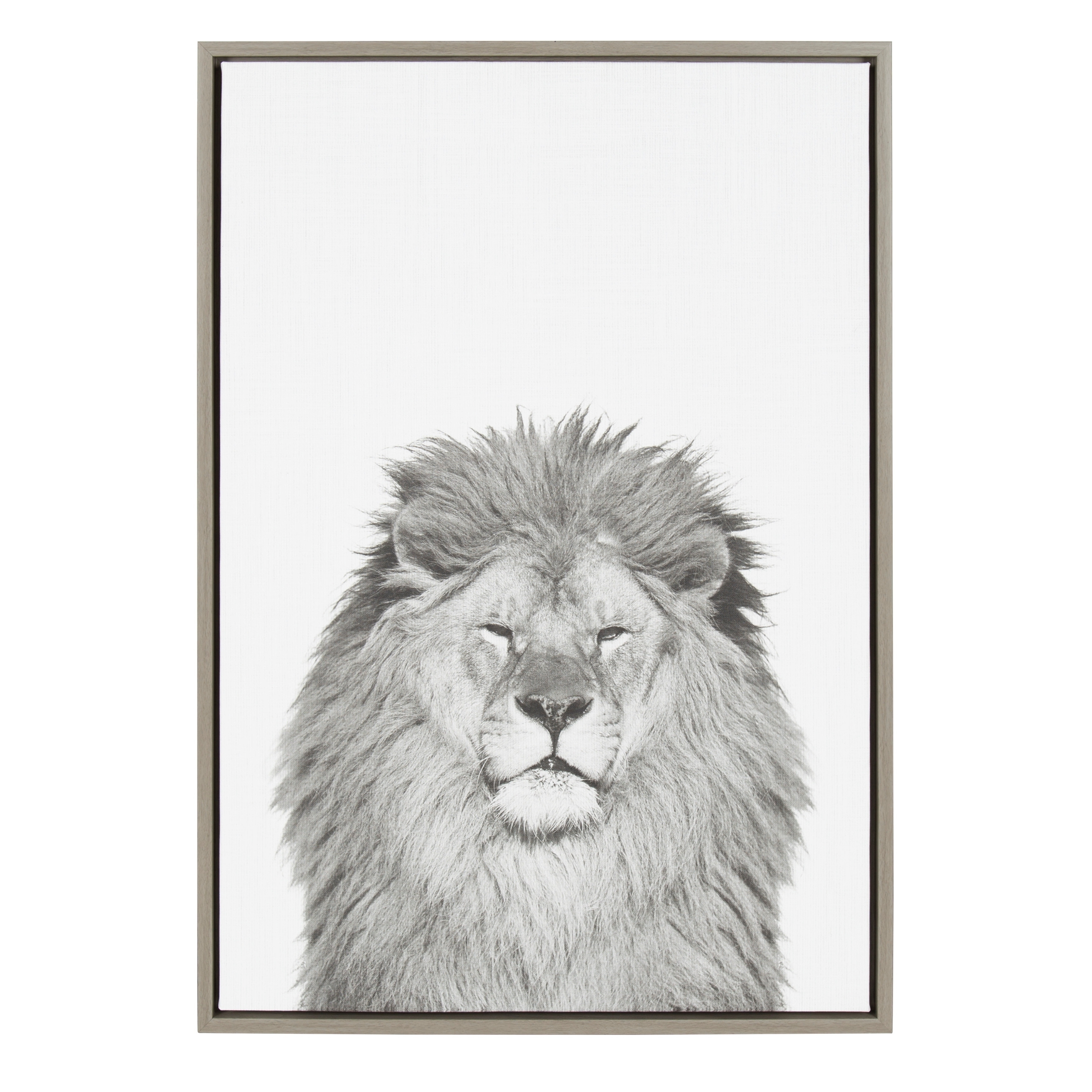 Fashionable Shop Sylvie Lion Framed Canvas Wall Artsimon Te Tai, Gray 23X33 Intended For Lion Wall Art (View 15 of 15)