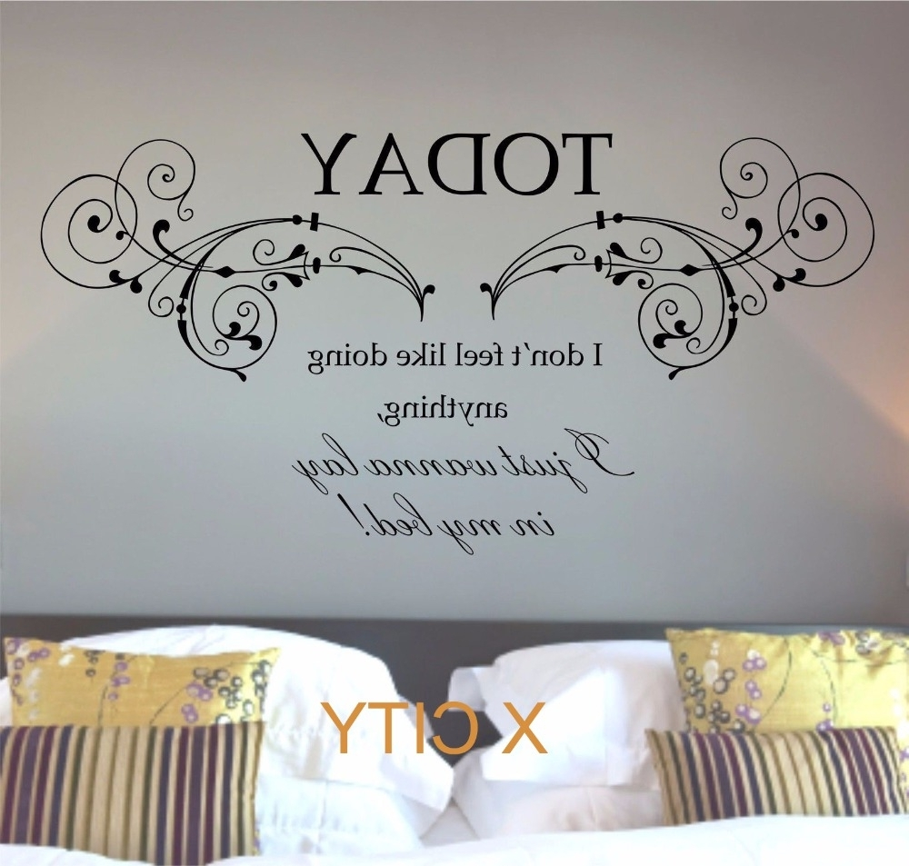 Fashionable Song Lyric Wall Art Intended For Bruno Mars Lazy Today Lyrics Song Quote Words Wall Art Sticker Mural (View 11 of 15)