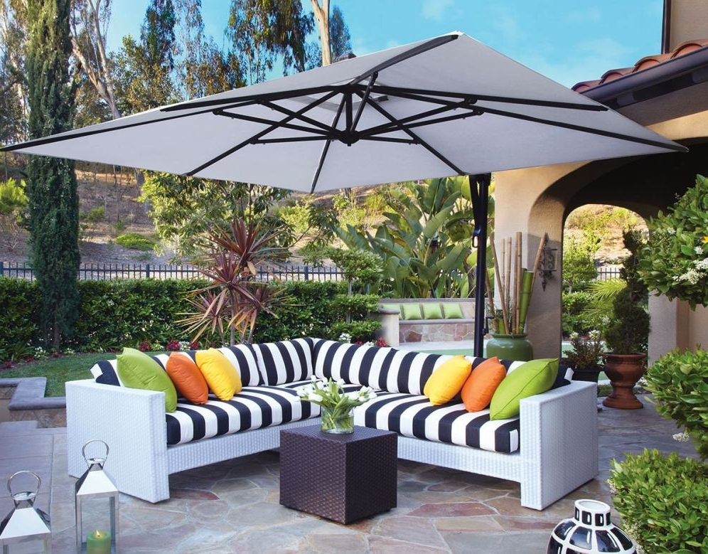Fashionable Square Cantilever Patio Umbrellas Inside Square Cantilever Patio Umbrella – Arelisapril (View 4 of 15)