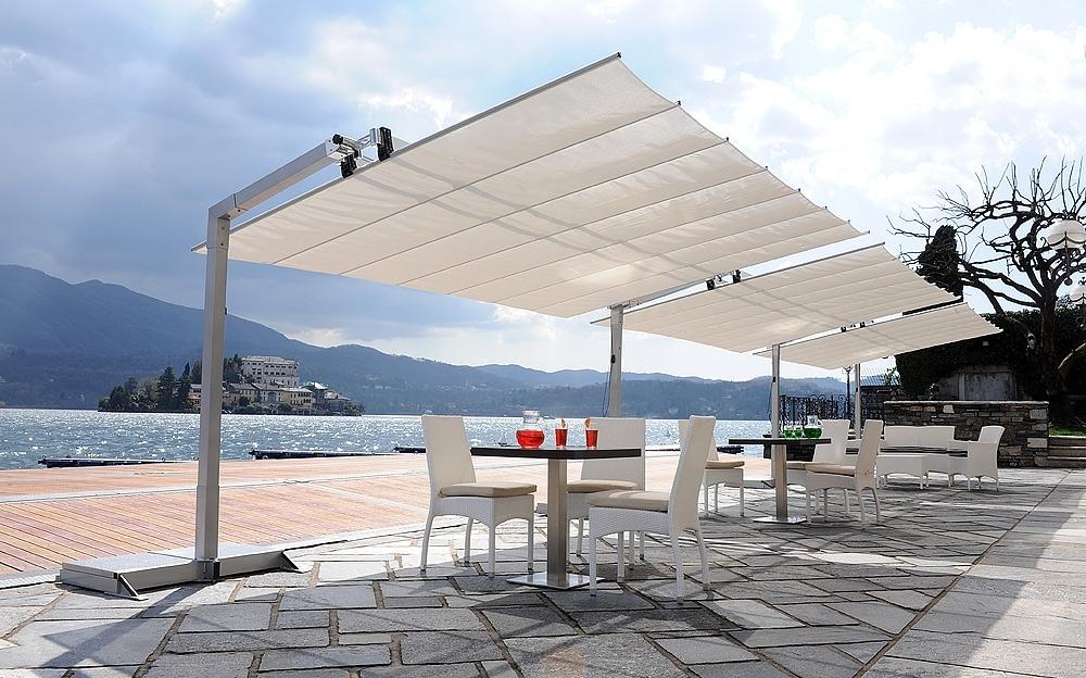 Fashionable Sunbrella Outdoor Patio Umbrellas With Regard To Flex Offset 2 Post Umbrella (View 2 of 15)