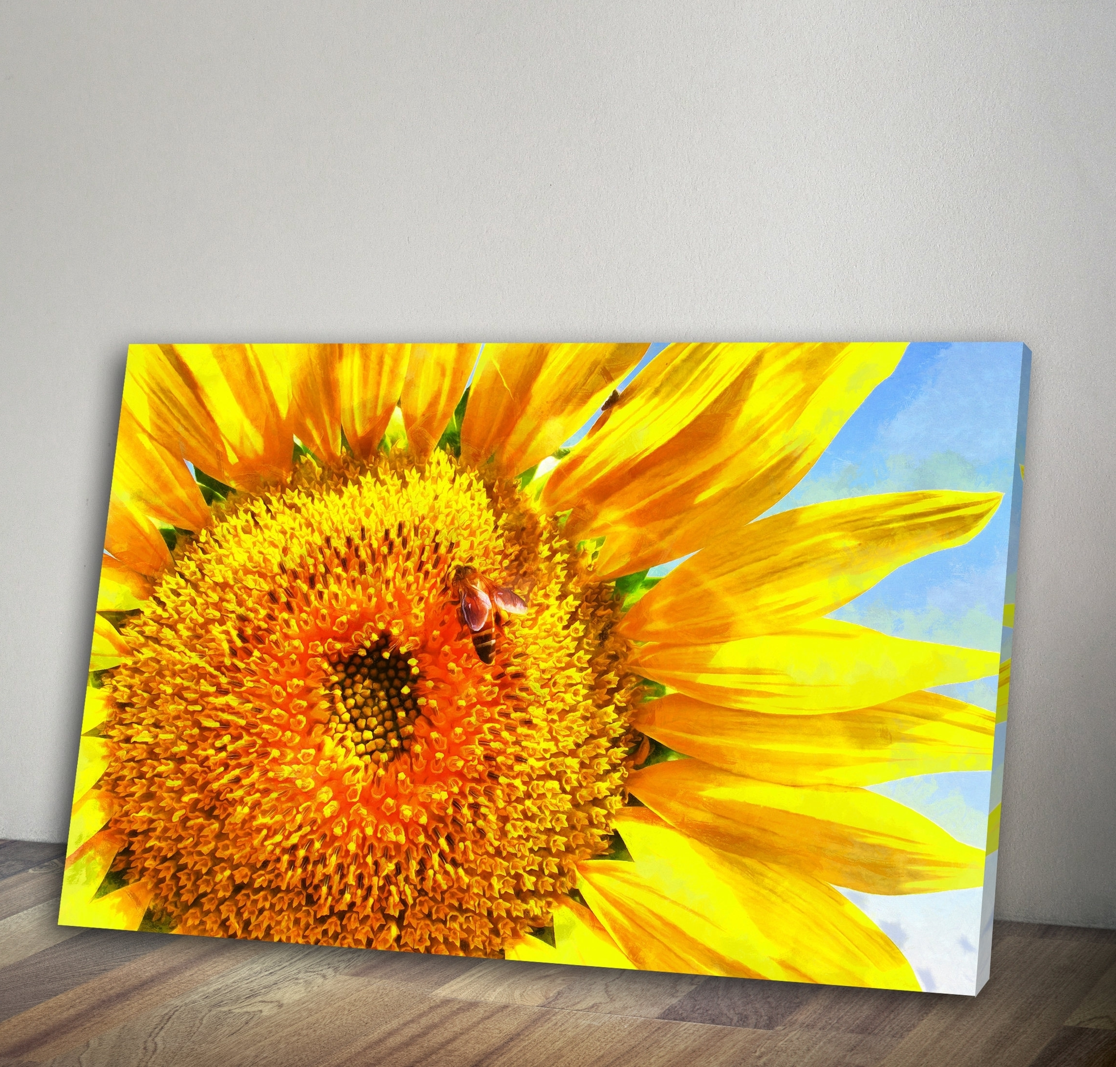 Fashionable Sunflower Wall Art Regarding Unique Sunflower Wall Painting (View 5 of 15)