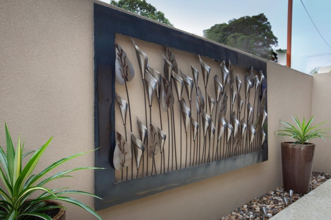Fashionable Wall Art Outdoor Garden Perth Wooden Australia Ideas Metal Sun Nz Intended For Outdoor Wall Art (View 10 of 15)