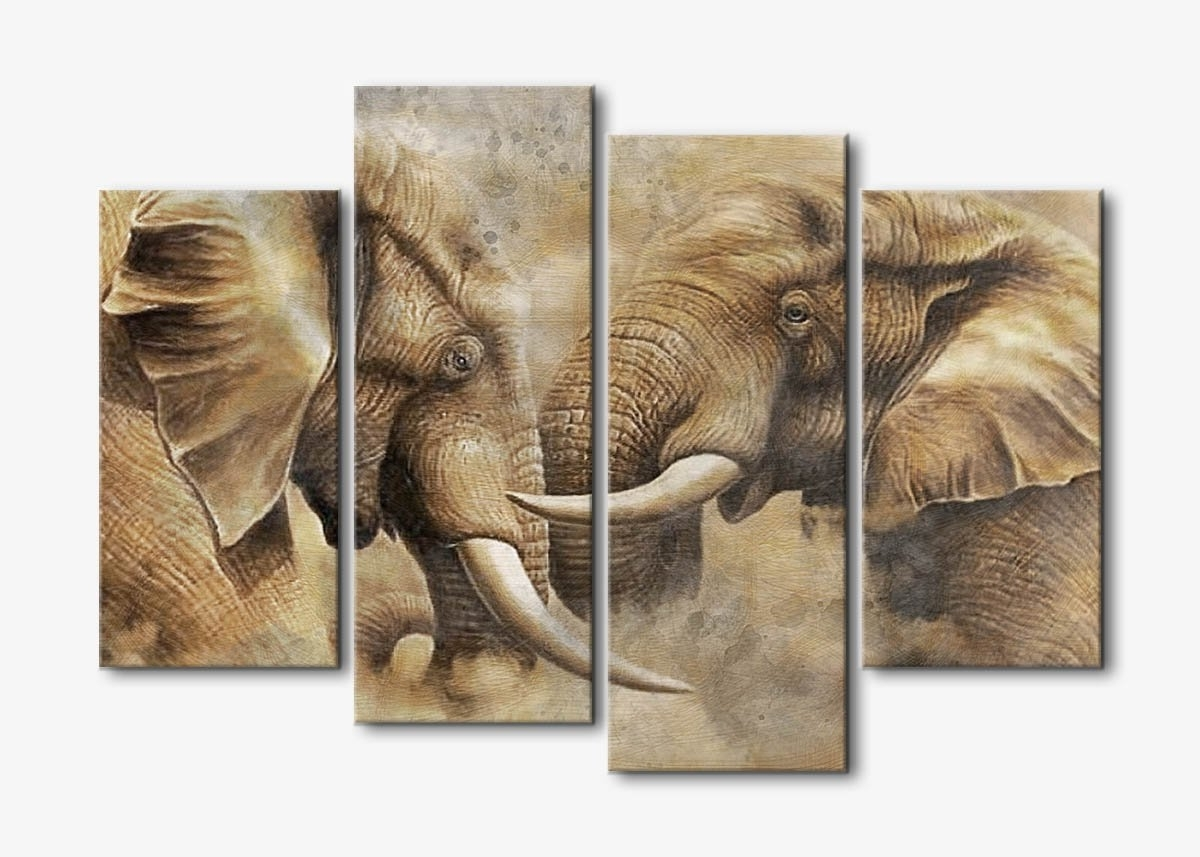 Fashionable Wall Art Panels Intended For Banmu Canvas Wall Art Painting Prints On Canvas 4 Panel Large (View 12 of 15)