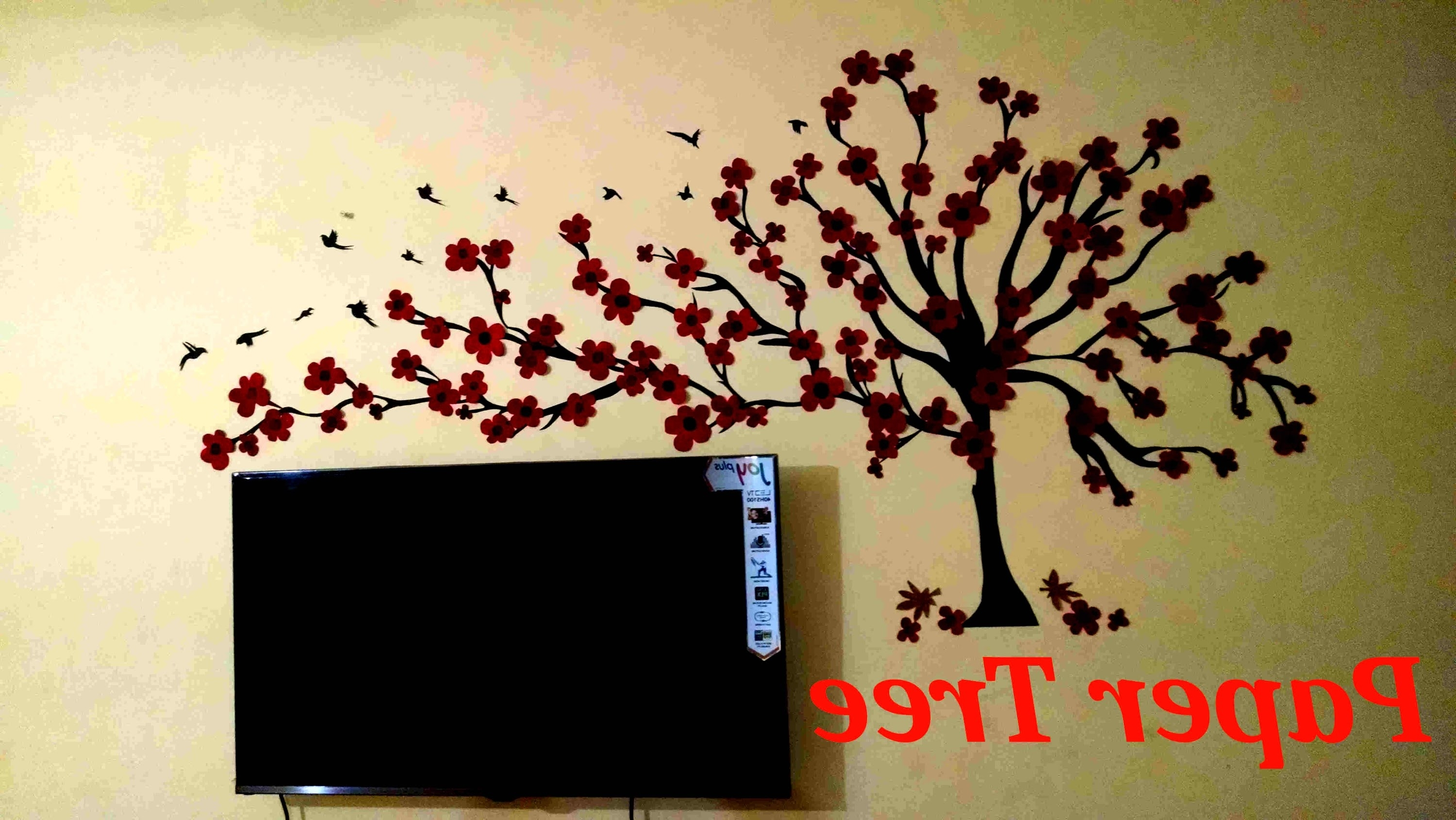 Fashionable Wall Tree(Paper Wall Art) – Youtube Within Wall Tree Art (View 5 of 15)