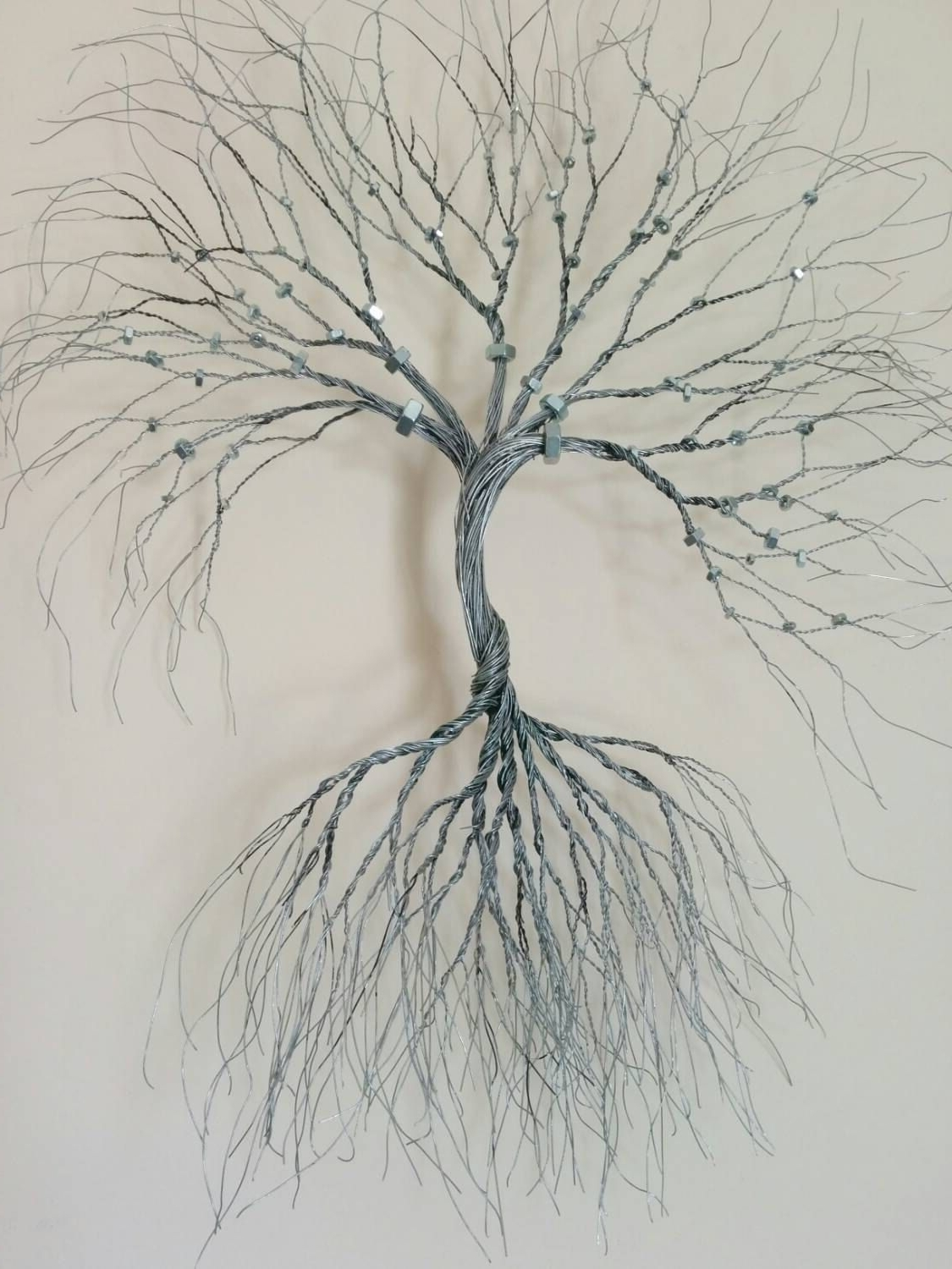 Fashionable Wire Wall Art With Silver Wire Wall Art Tree Of Life Wall Decoration Decorative  Wire (View 2 of 15)