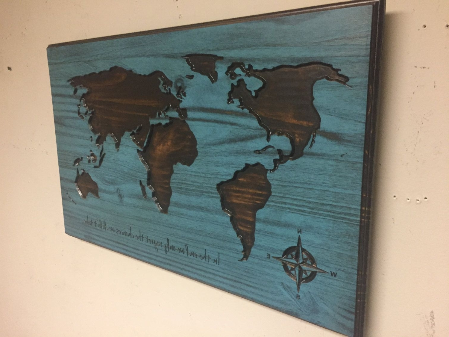 Fashionable Wooden World Map Wall Art Large Carved Vintage Best Of Wood With Wooden World Map Wall Art (View 3 of 15)
