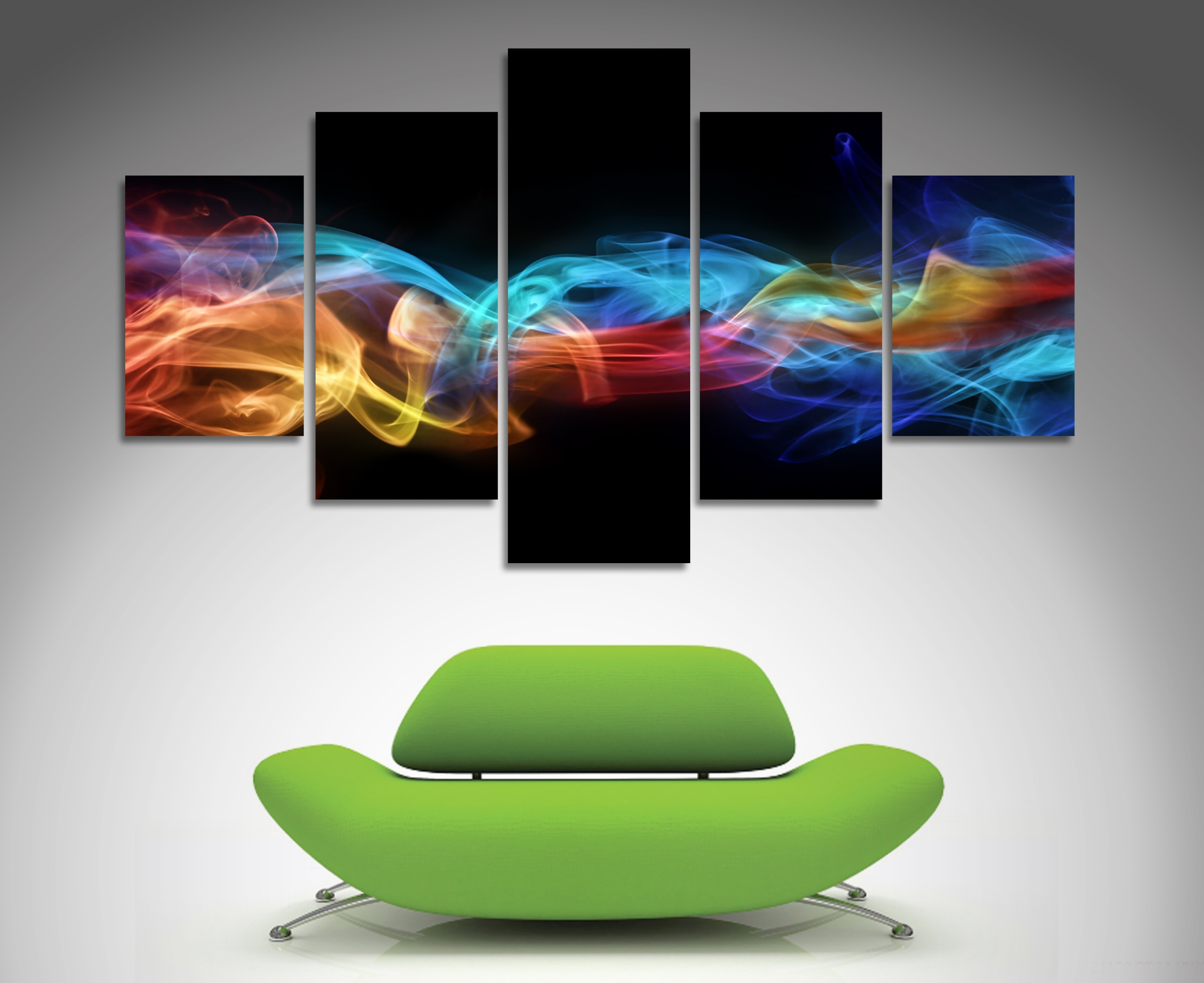 Favorite 5 Panel Wall Art Throughout Fire And Ice 5 Panel Wall Art (View 5 of 15)