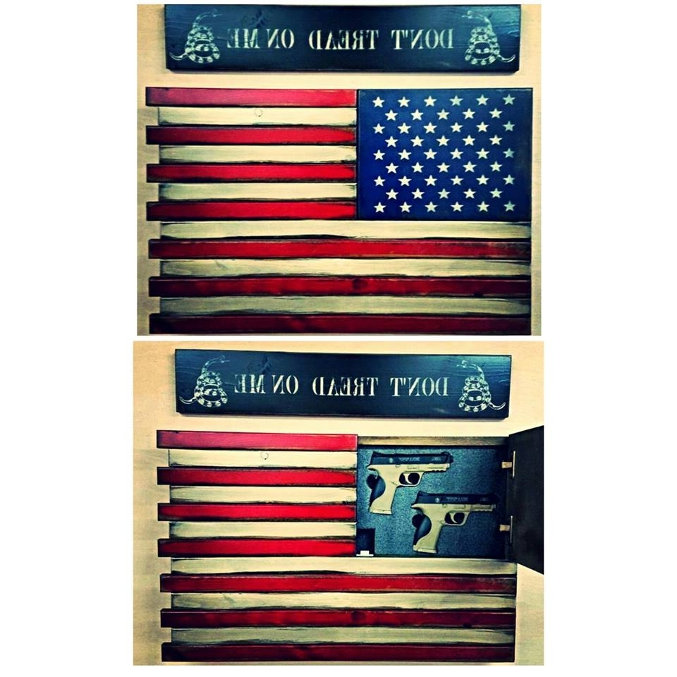 Favorite American Flag Wall Art In American Flag Home Defense Concealment Wall Art (View 5 of 15)