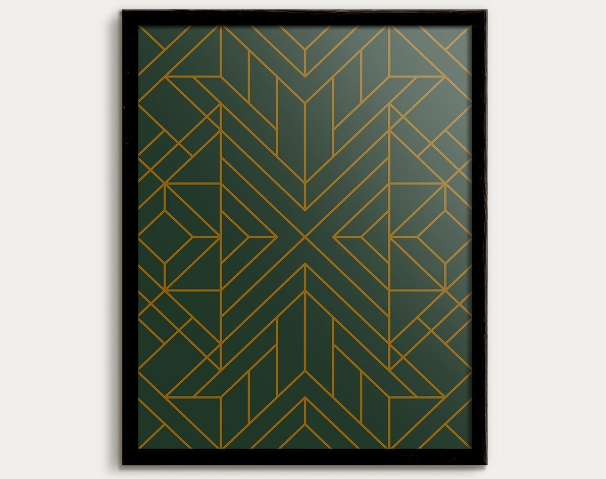 Favorite Art Deco Wall Art Throughout Art Deco Print, Art Deco Poster, Art Deco Decor, Art Deco Pattern (View 11 of 15)