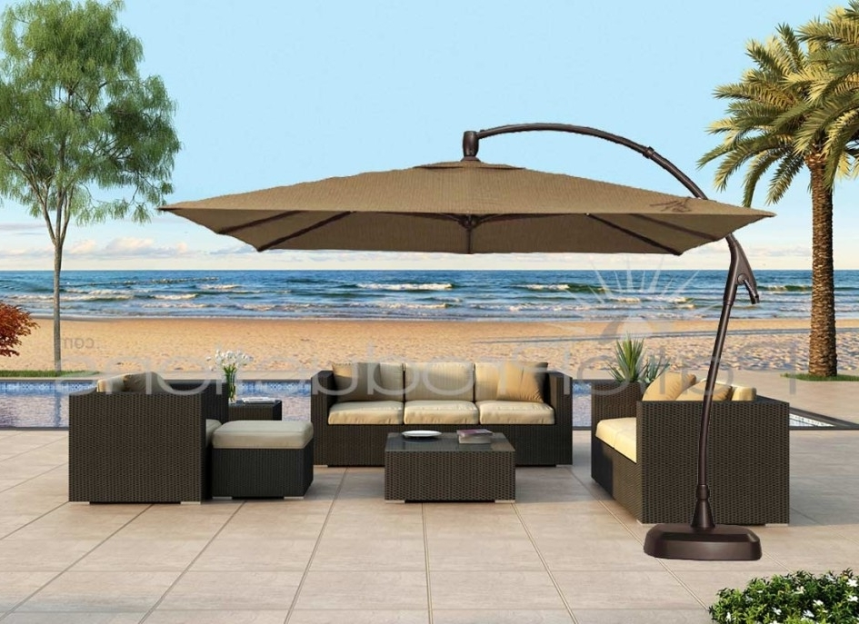 Favorite Cantilever Patio Umbrellas Intended For Fabulous Large Patio Umbrellas Cantilever Patio Ideas Large (View 9 of 15)