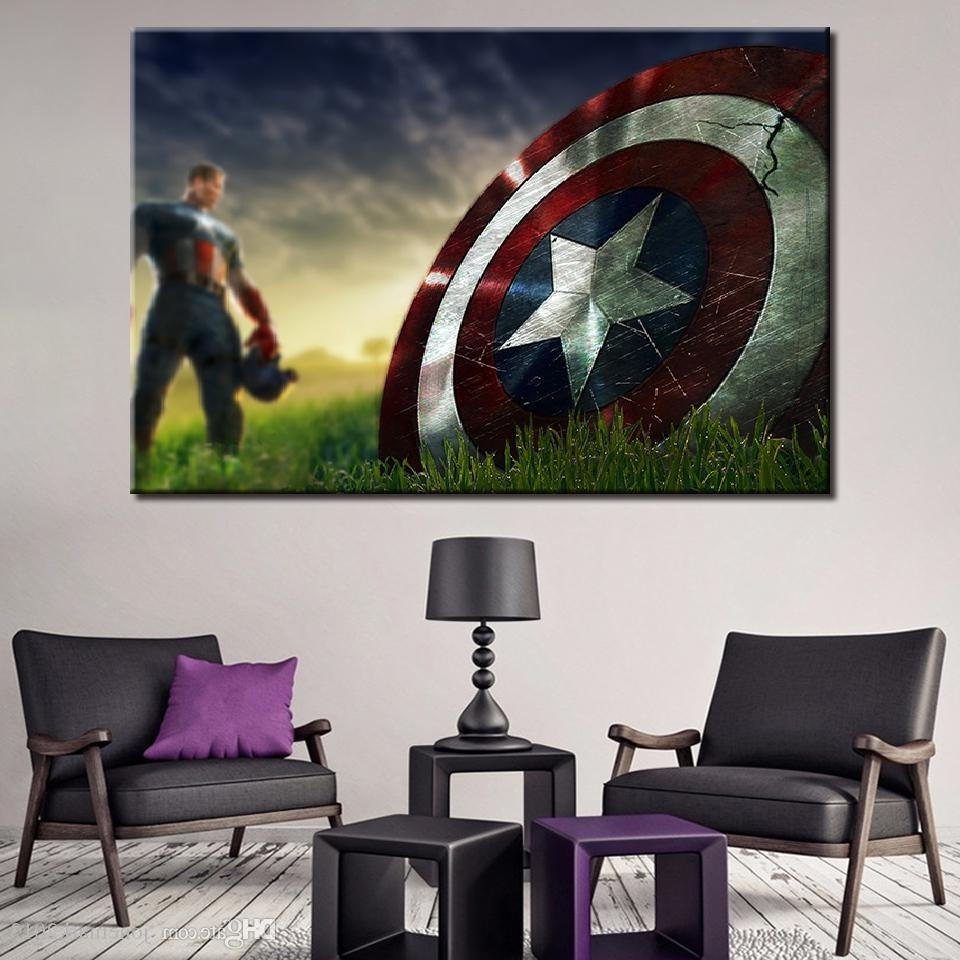 Favorite Captain America Wall Art In 2018 Canvas Paintings Wall Art Framework For Living Room Home Decor (View 4 of 15)