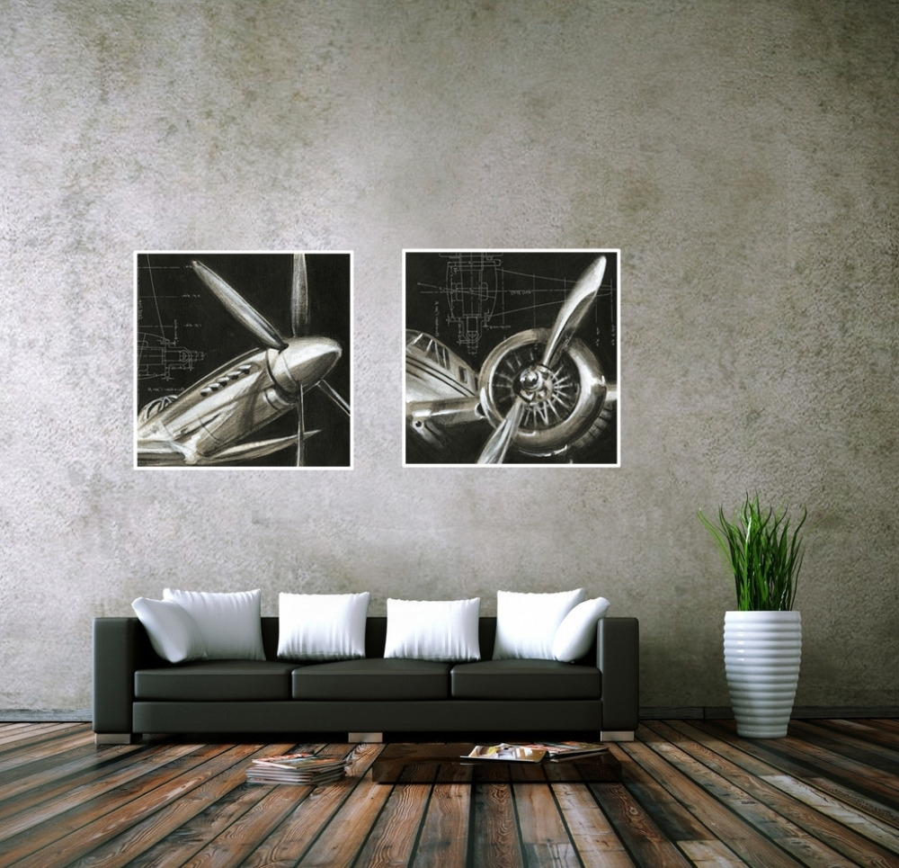 Favorite Cuadros Decoracion Vintage Airplane Paintings Cheap Abstract Picture In Airplane Wall Art (View 2 of 15)