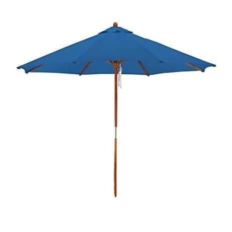 Favorite Deluxe Patio Umbrellas Within Amazon : Deluxe Market Umbrella In Blue : Patio Umbrellas (View 9 of 15)