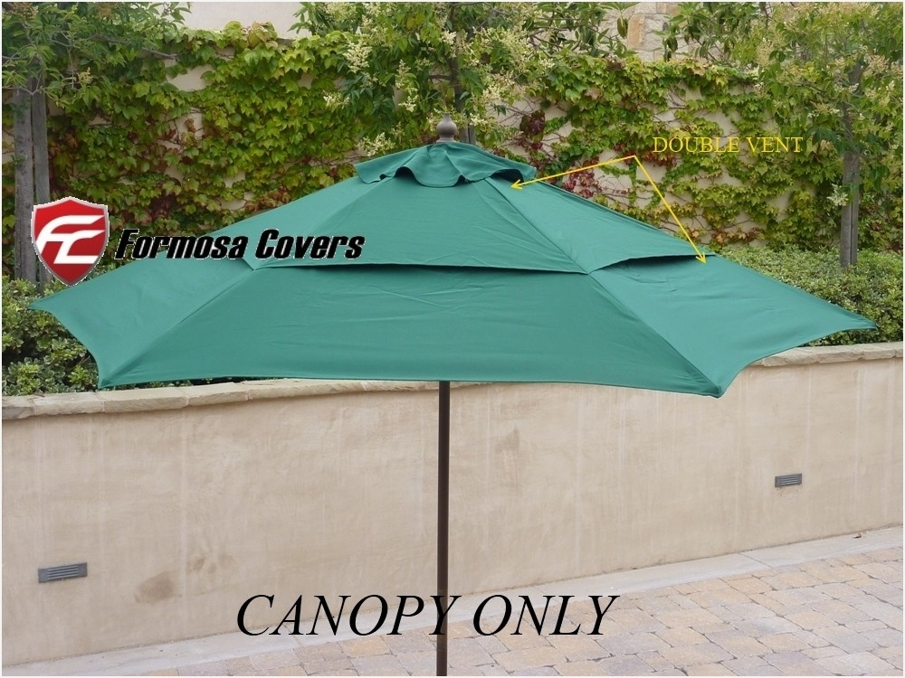 Favorite Double Vented Patio Umbrellas » Luxury Vented Replacement Umbrella Regarding Vented Patio Umbrellas (View 6 of 15)