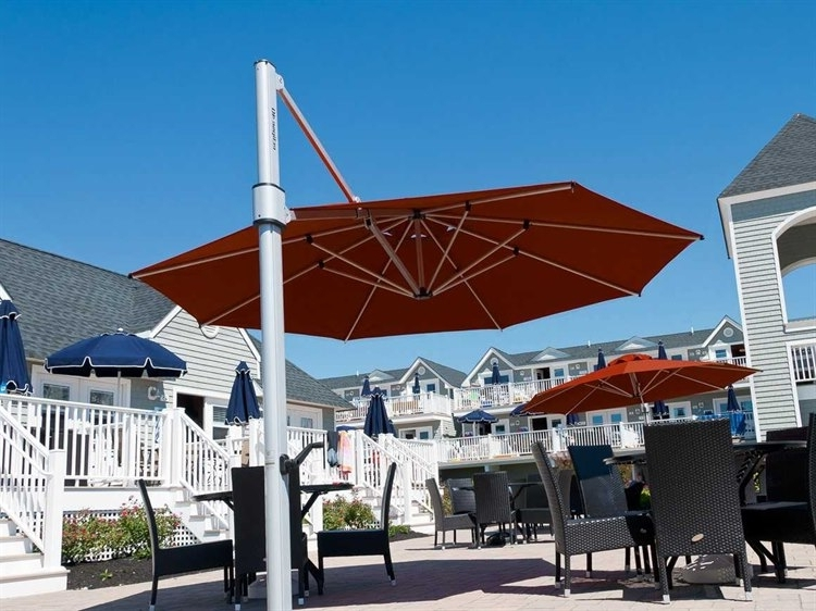 Favorite Eclipse Patio Umbrellas Inside Frankford Eclipse Commercial Cantilever 13 Foot Wide Octagon Crank (View 12 of 15)