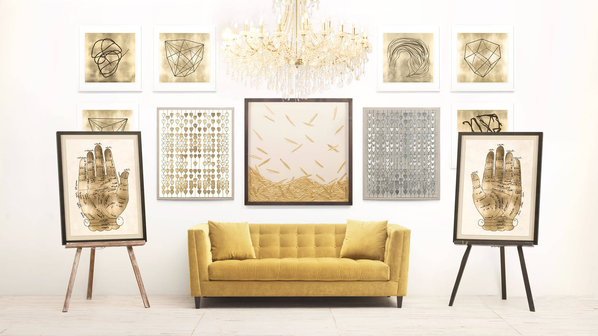Favorite Gold Wall Art Throughout Luxury White And Gold Wall Art – Kunuzmetals (View 6 of 15)