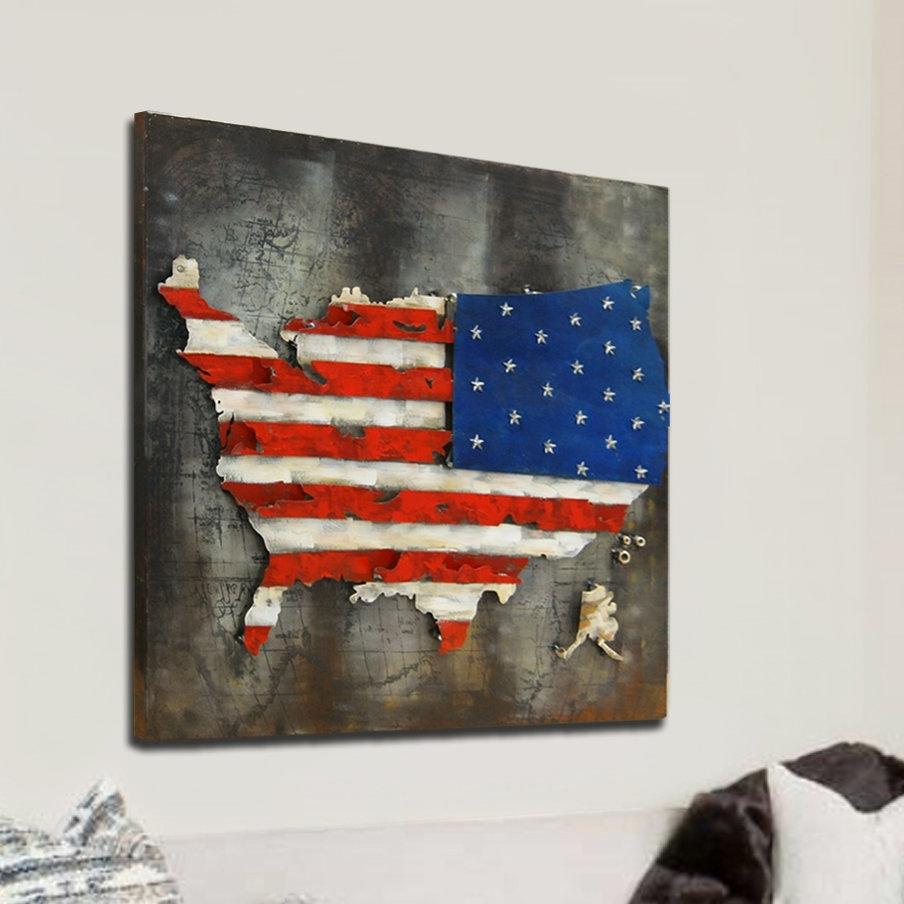 Favorite Hdc International 3D Us American Flag Wall Decor (View 6 of 15)