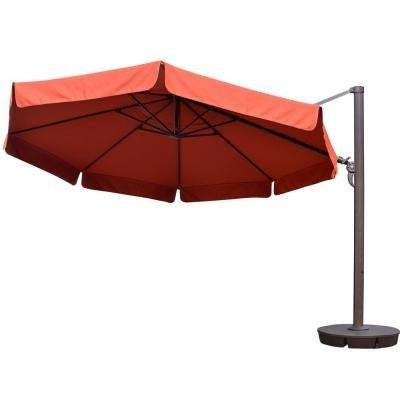 Favorite Home Depot Patio Umbrellas In Sunbrella Fabric – 13 – Octagon – Patio Umbrellas – Patio Furniture (View 2 of 15)