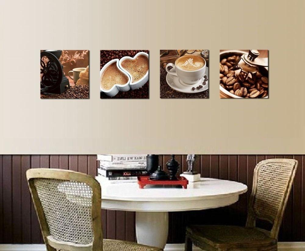 Favorite Kitchen Canvas Art Coffee Bean Coffee Cup Canvas Prints Wall Art With Kitchen Canvas Wall Art Decors (View 12 of 15)