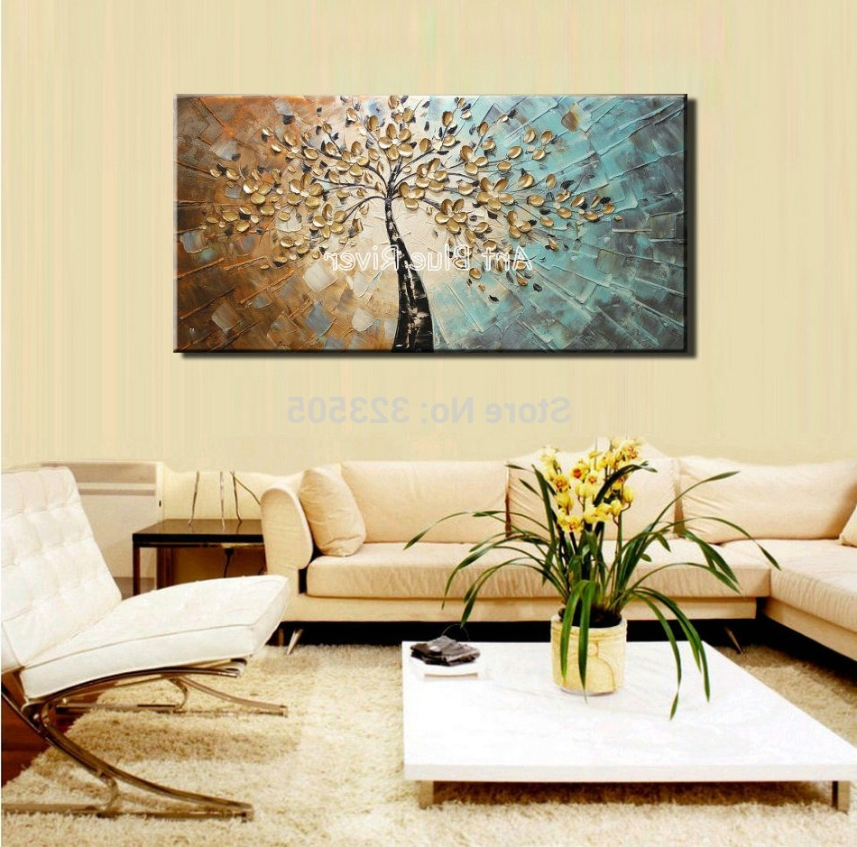Favorite Large Abstract Canvas Wall Art Decorative Acrylic Flower Tree With Large Abstract Wall Art (View 13 of 15)