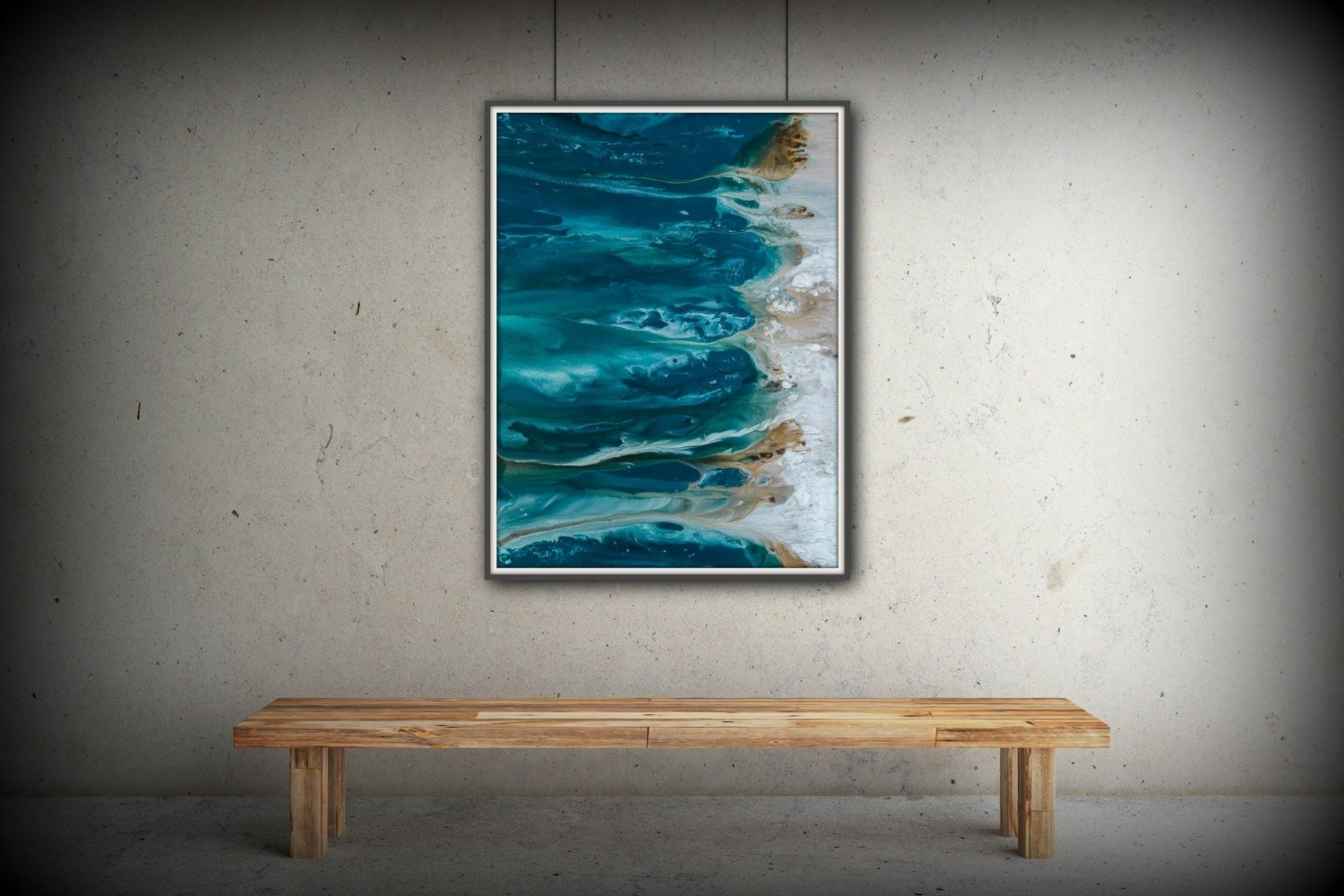 Favorite Large Coastal Wall Art Pertaining To Abstract Art Blue Wall Art Coastal Landscape Giclee Large Print On (View 6 of 15)
