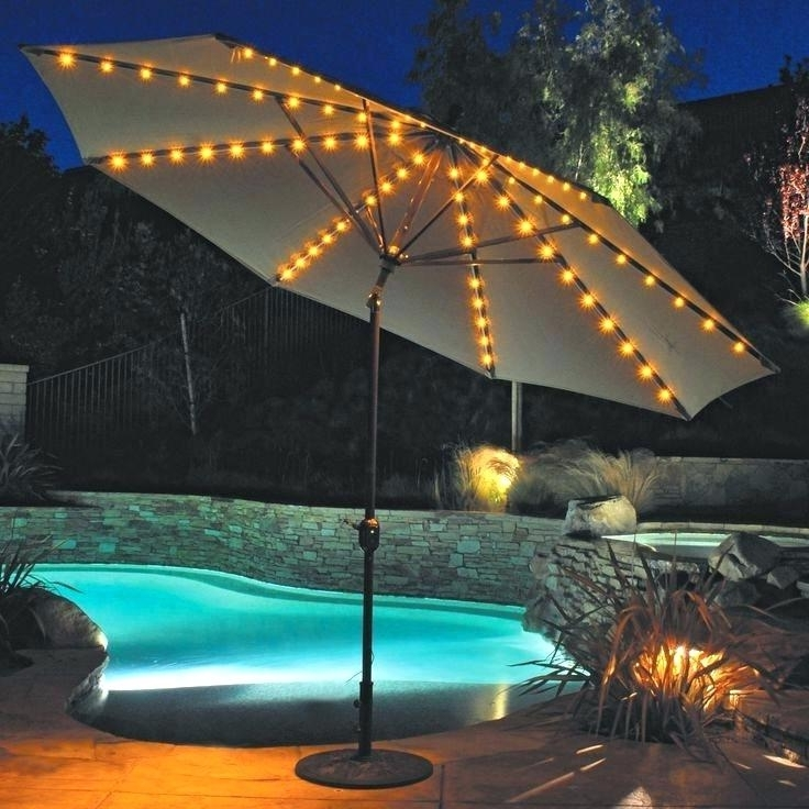 Favorite Lighted Patio Umbrellas Throughout Solar Lighted Patio Umbrellas Creative Of Led Patio Umbrella Lights (View 12 of 15)