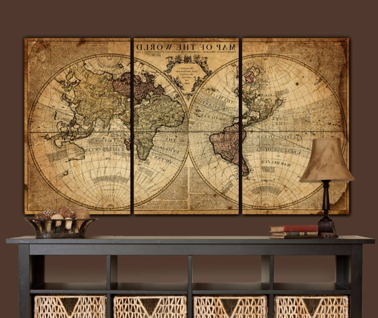 Favorite Map Wall Art Within Best Collection Of Large World Map Wall Art And Framed Maps The (View 13 of 15)