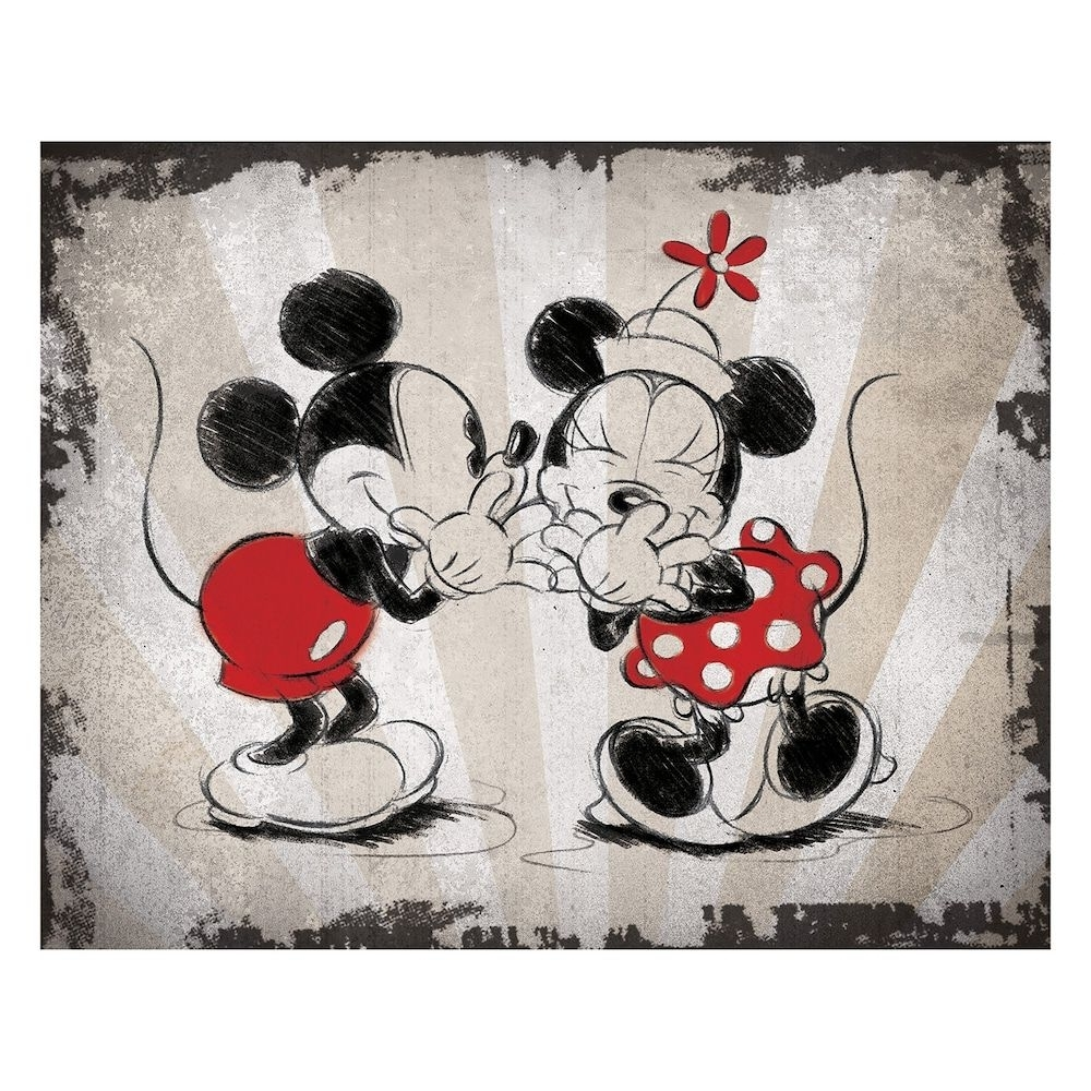 Favorite Mickey Mouse Canvas Wall Art Inside Disney's Mickey Mouse & Minnie Mouse Laughing Canvas Wall Art (View 3 of 15)