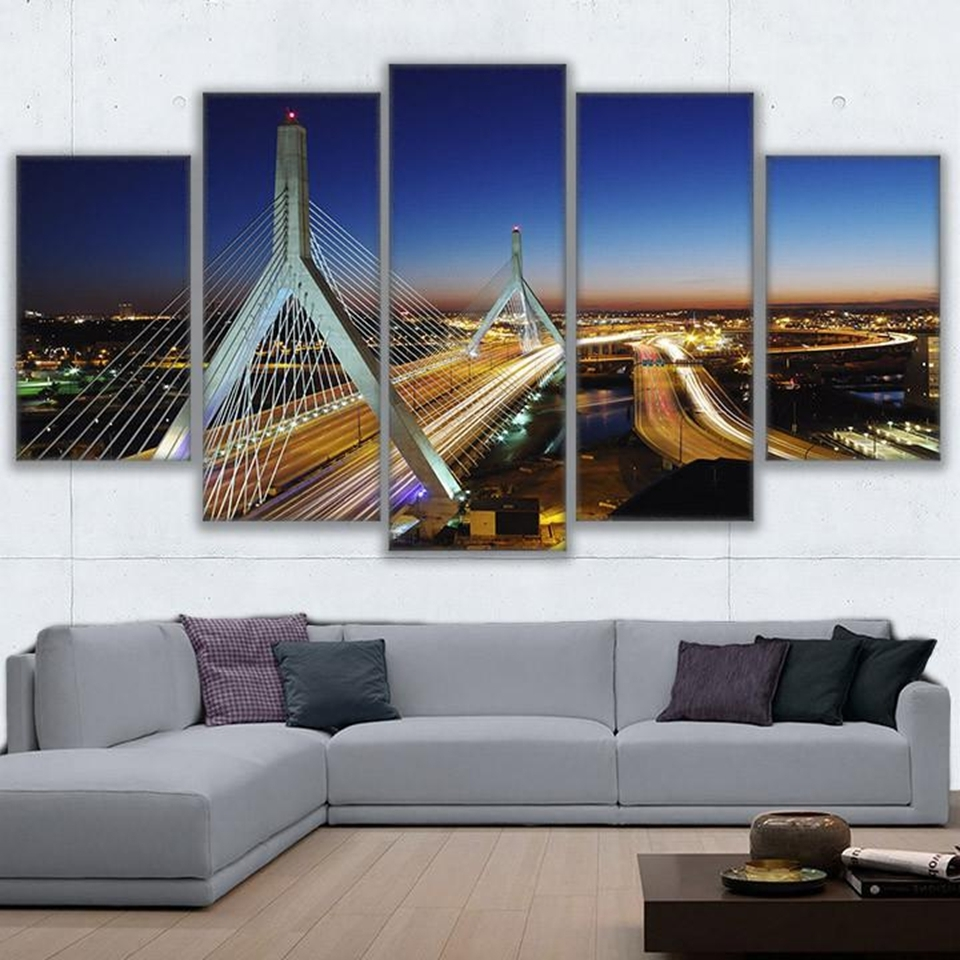 Favorite Modern Wall Art Canvas Hd Prints Painting Frame Modular Poster 5 With Boston Wall Art (View 7 of 15)