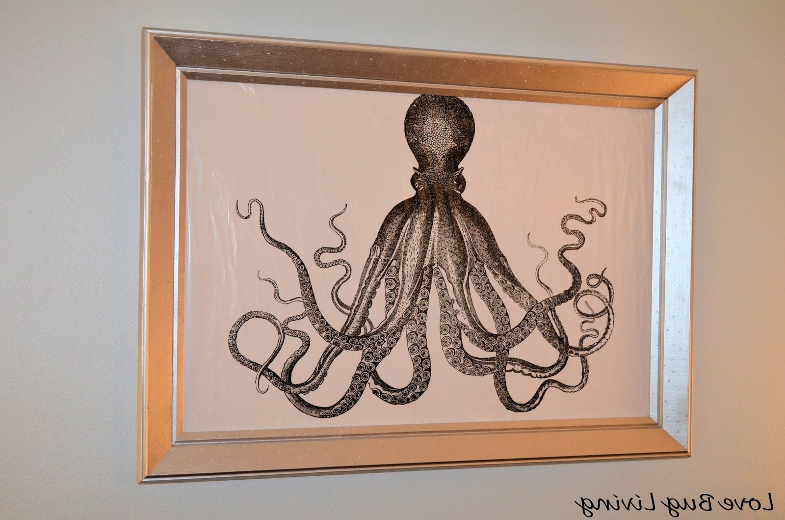 Favorite Octopus Wall Art Regarding Love Bug Living: Octopus Canvas Art Diy (View 12 of 15)