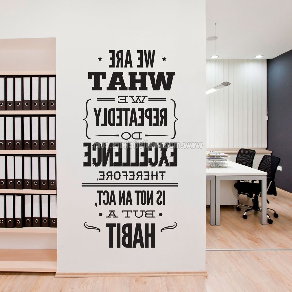 Favorite Office Wall Art Intended For Excellence Office Decor Wall Sticker – Moonwallstickers (View 6 of 15)