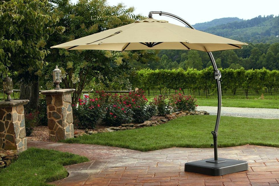Favorite Offset Patio Umbrella With Base Patio Offset Patio Umbrellas In Offset Patio Umbrellas With Base (View 3 of 15)