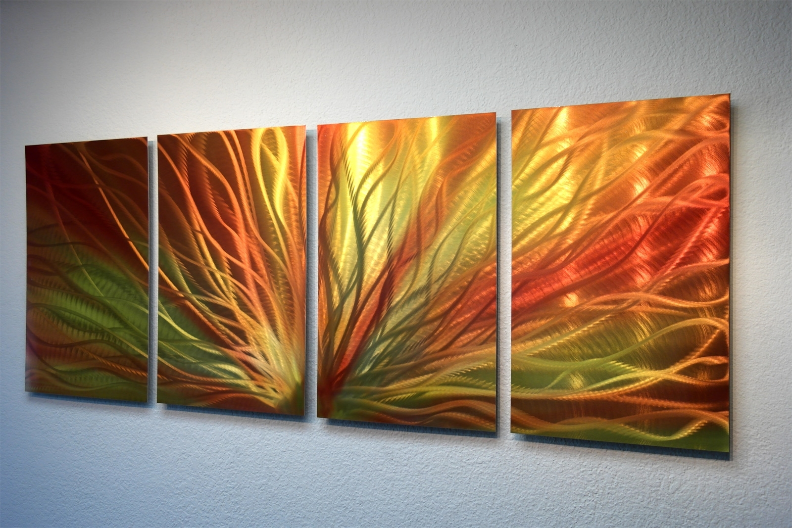 Favorite Orange Wall Art Within Radiant Sunrise  Metal Wall Art Abstract Contemporary Modern Decor (View 7 of 15)