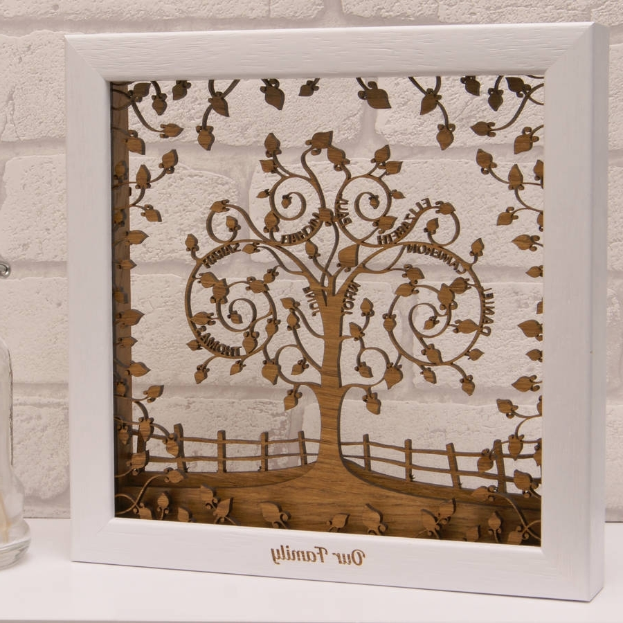 Favorite Personalised Wooden 3D Layered Family Tree Wall Arturban Twist Pertaining To Family Tree Wall Art (View 6 of 15)
