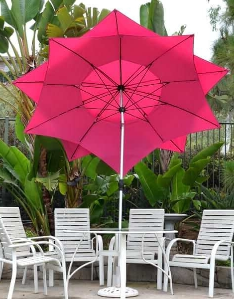 Favorite Pink Patio Umbrellas Intended For Patio Umbrella – Pink 9' Flower Petalquality Patio Umbrellas, Market (View 6 of 15)