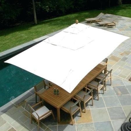 Favorite Rectangle Patio Umbrellas In Good Rectangle Patio Umbrella Or Patio Umbrellas Large Rectangular (View 10 of 15)