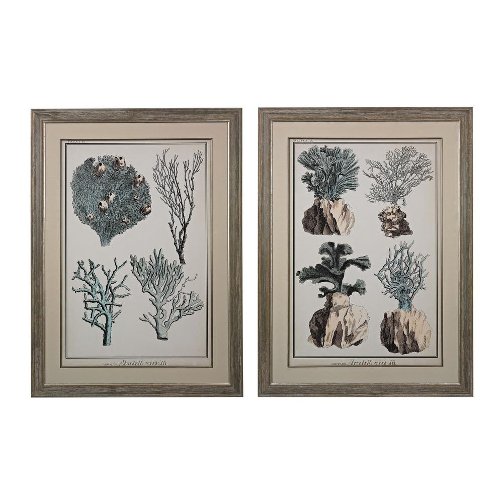 Favorite Set Of 2 Framed Wall Art With Regard To Titan Lighting 45 In. X 33 In (View 15 of 15)