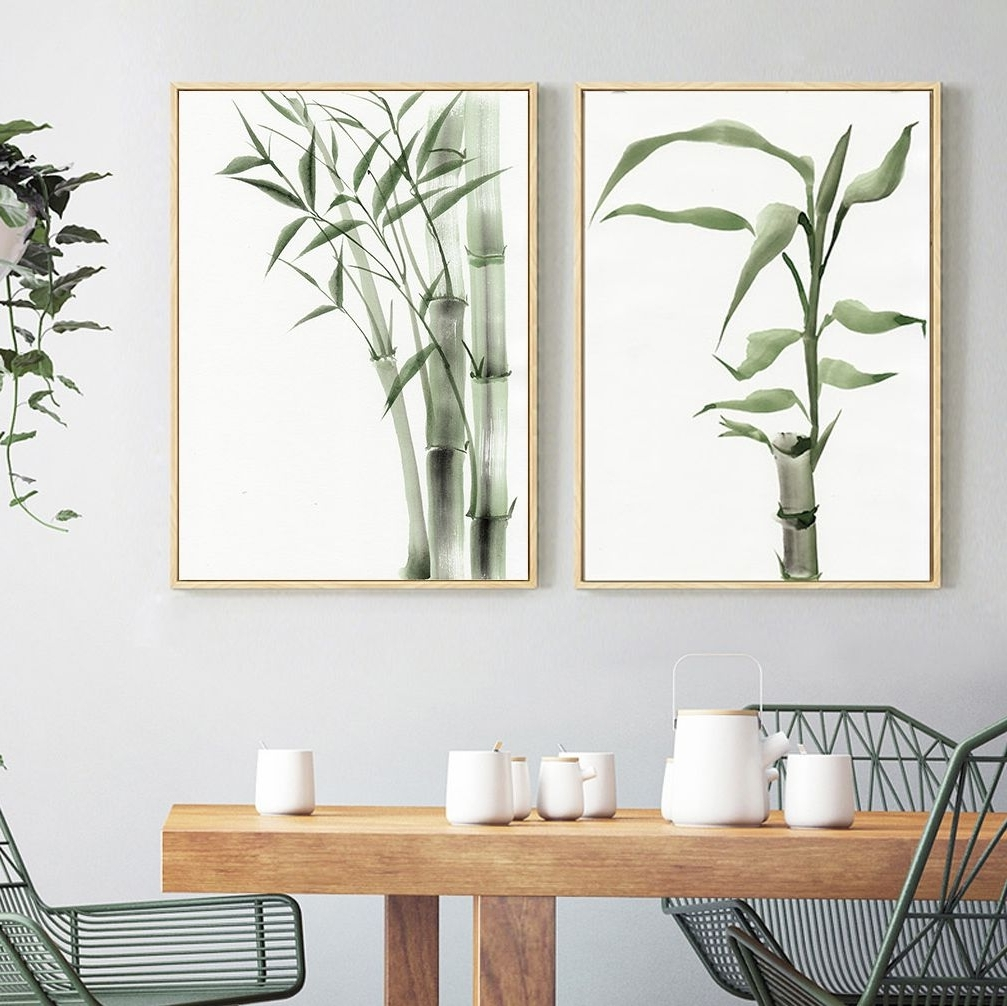 Favorite Stylish Bamboo Canvas Print, Wall Art, Poster, Airbnb Home Decor In Bamboo Wall Art (View 15 of 15)