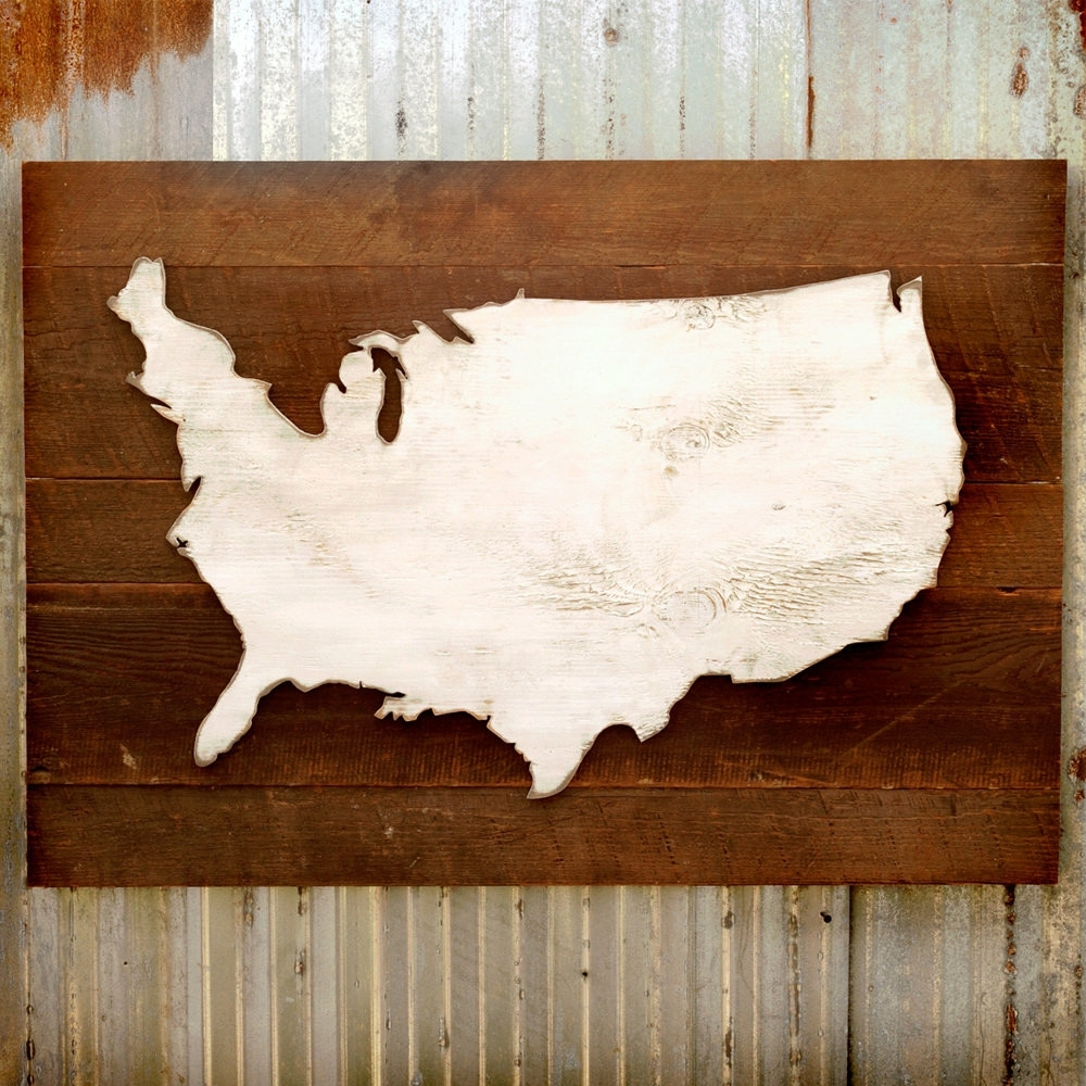 Favorite Usa Map Wall Art Throughout Explore Photos Of Usa Map Wall Art Showing 4 20 For Wooden United (View 6 of 15)
