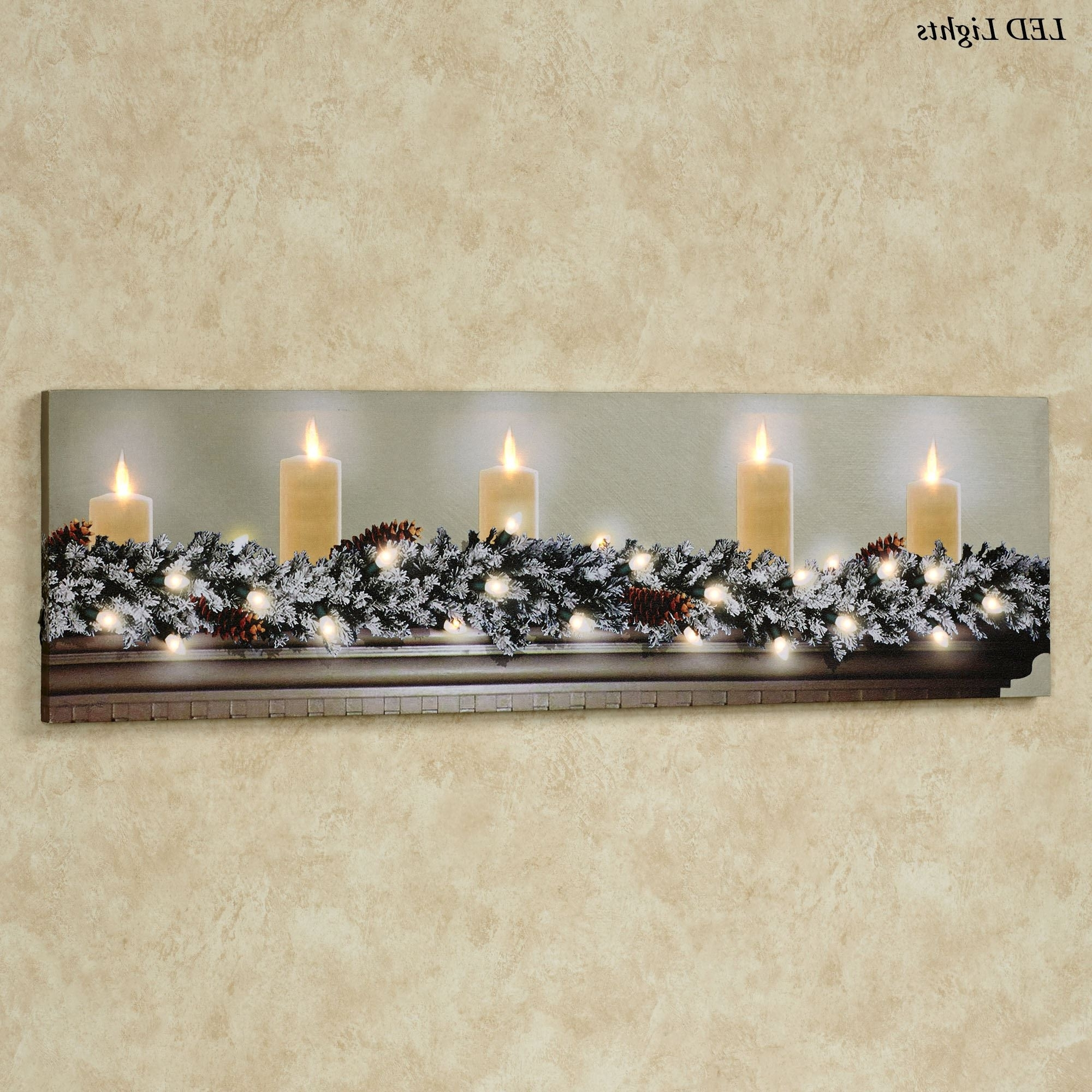 Favorite White Christmas Led Lighted Canvas Wall Art With Lighted Wall Art (View 4 of 15)