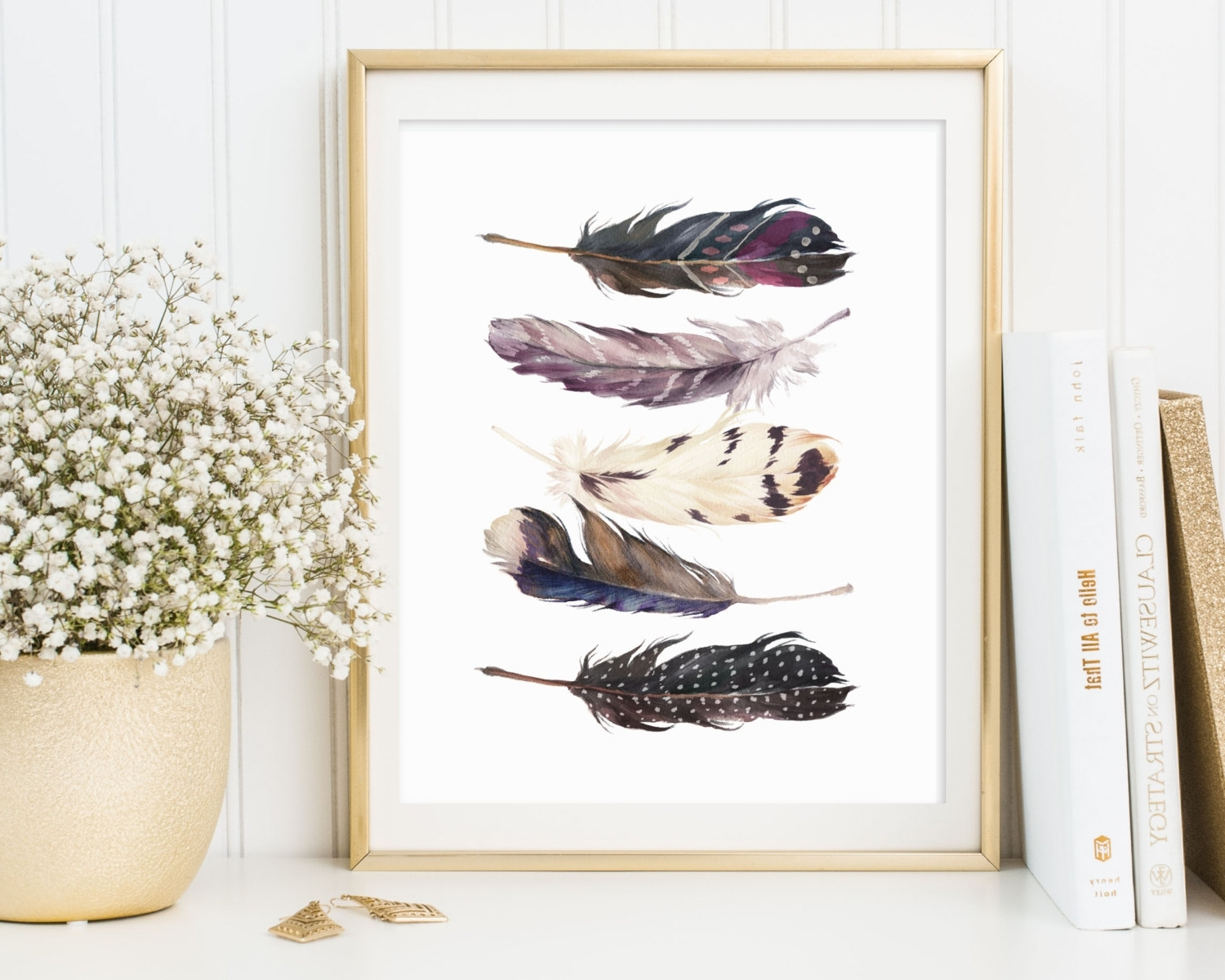 Feather Wall Art Inside Trendy Framed Feather Wall Art : Andrews Living Arts – Look Wonderful (View 3 of 15)