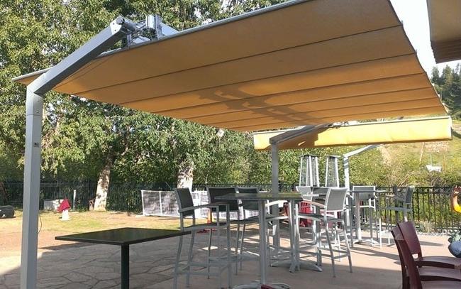 Fim Flexy Aluminum 10' X 14' Rectangular Offset Patio Umbrella With Regard To Well Liked Rectangular Offset Patio Umbrellas (View 3 of 15)