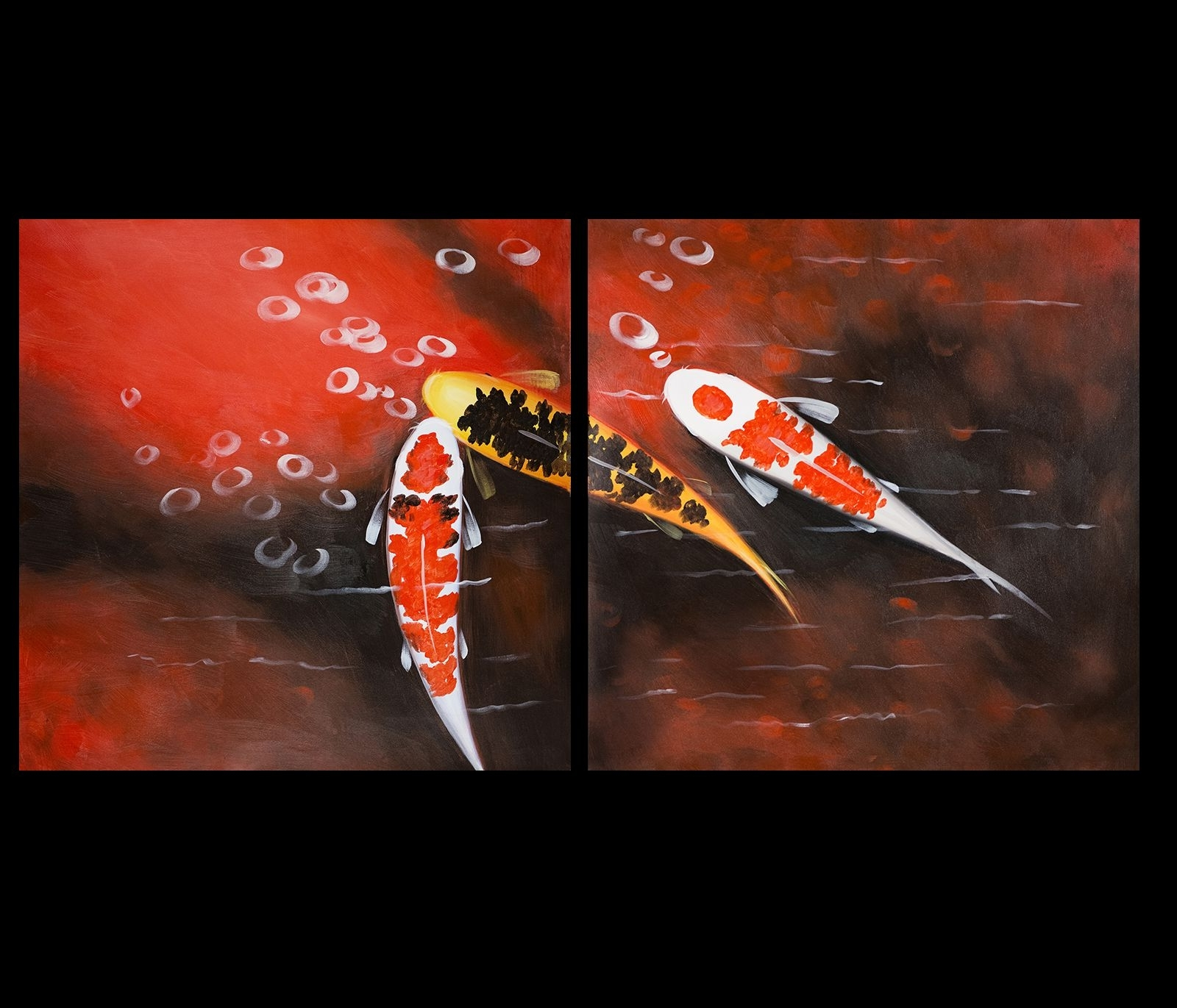 Fish Painting Wall Art For Most Popular Koi Fish Wall Art Contemporary Art Modern Wall Art Décor Print On (View 2 of 15)