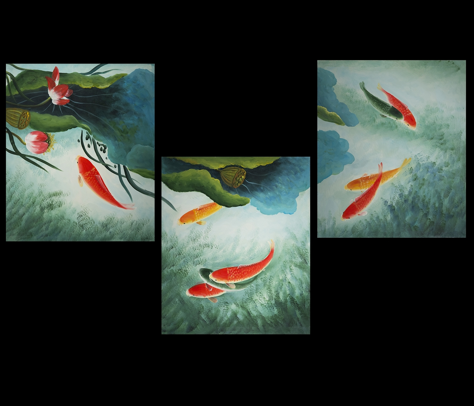 Fish Painting Wall Art With Well Known Koi Fish Wall Art Canvas Prints Contemporary Modern Wall Art Décor (View 6 of 15)