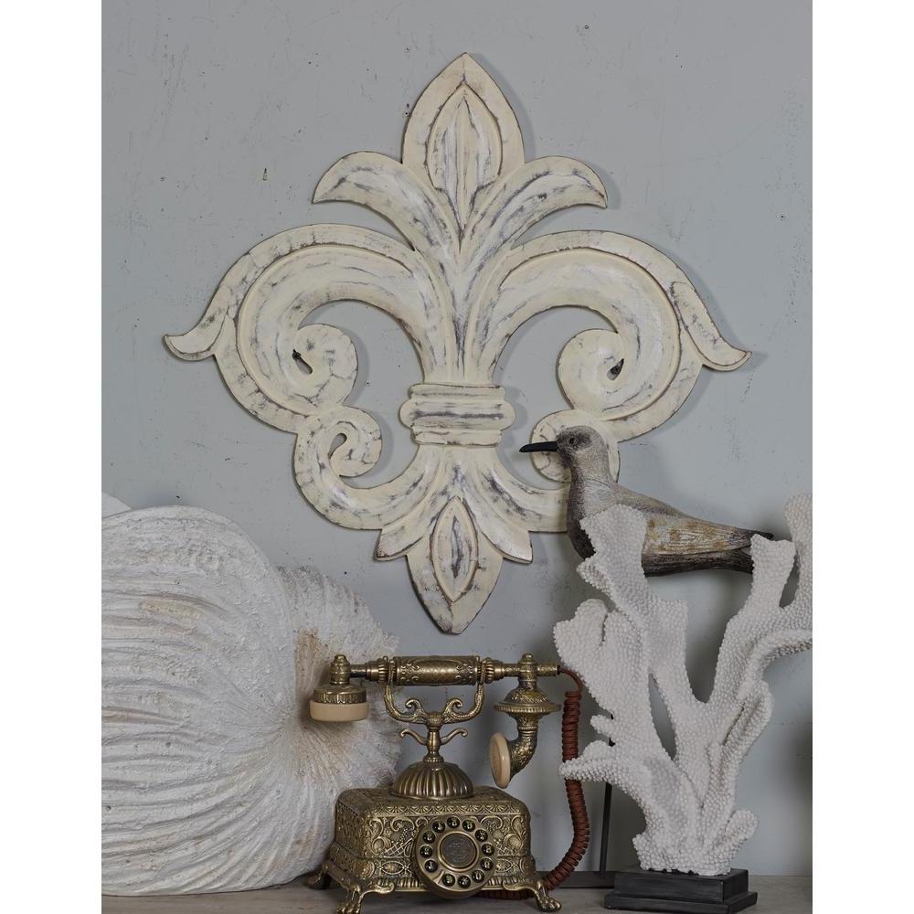 Fleur De Lis Wall Art Pertaining To Most Recent Whitewash Fleur De Lis Wall Art : Andrews Living Arts – Make Fleur (View 9 of 15)