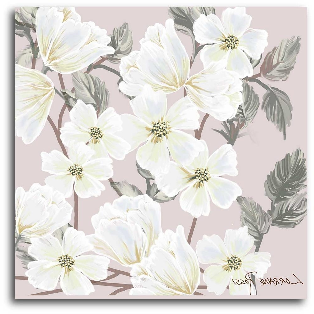 Floral Canvas Wall Art For Well Known 16 In. X 16 In (View 12 of 15)