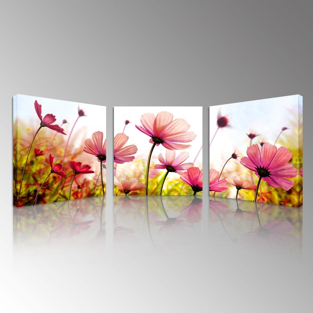 Floral Canvas Wall Art Inside 2017 2018 Pink Recollections Canvas Prints Beautiful Flowers Picture Art (View 11 of 15)