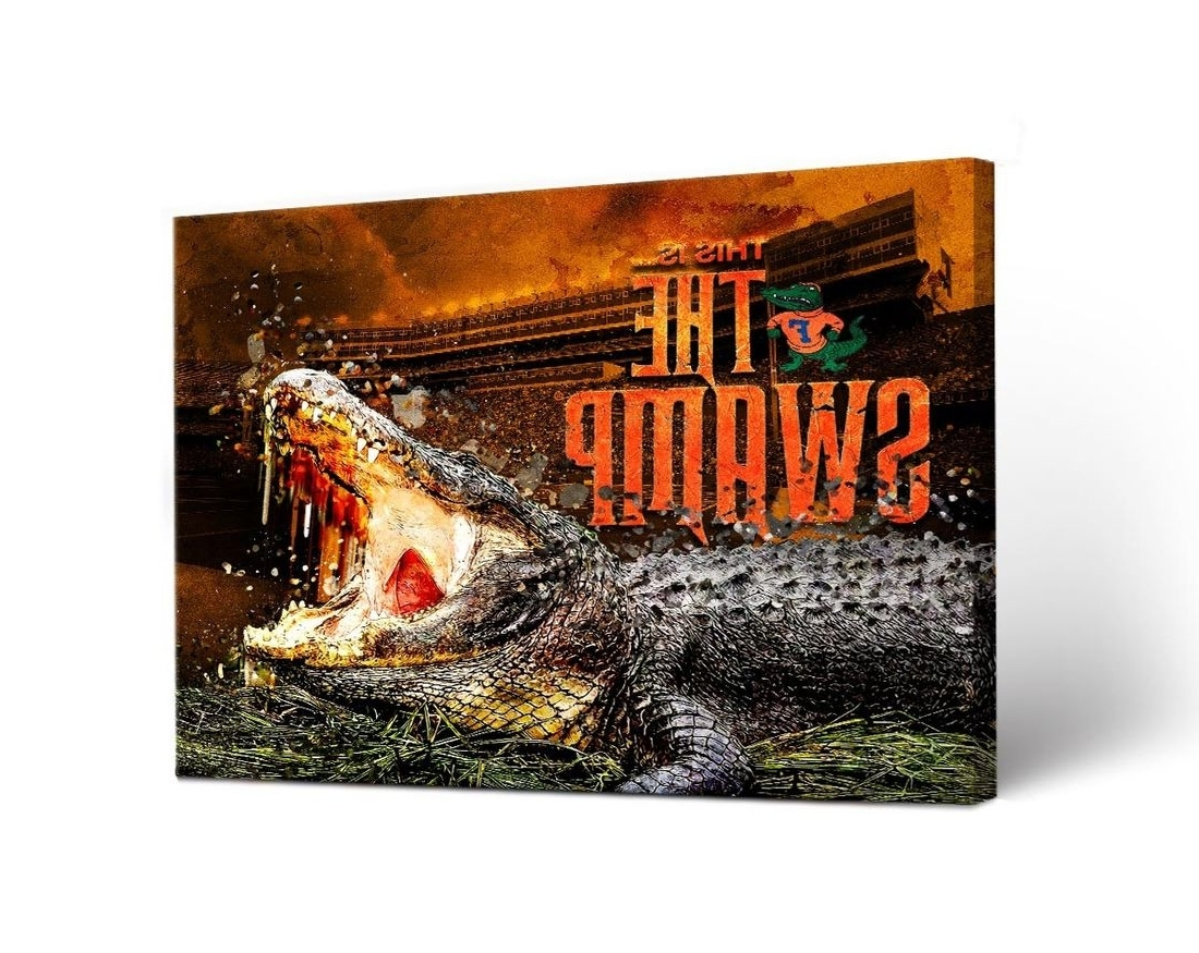 Florida Uf Gators Canvas Wall Art The Swamp Design With Regard To Most Up To Date Florida Wall Art (View 5 of 15)
