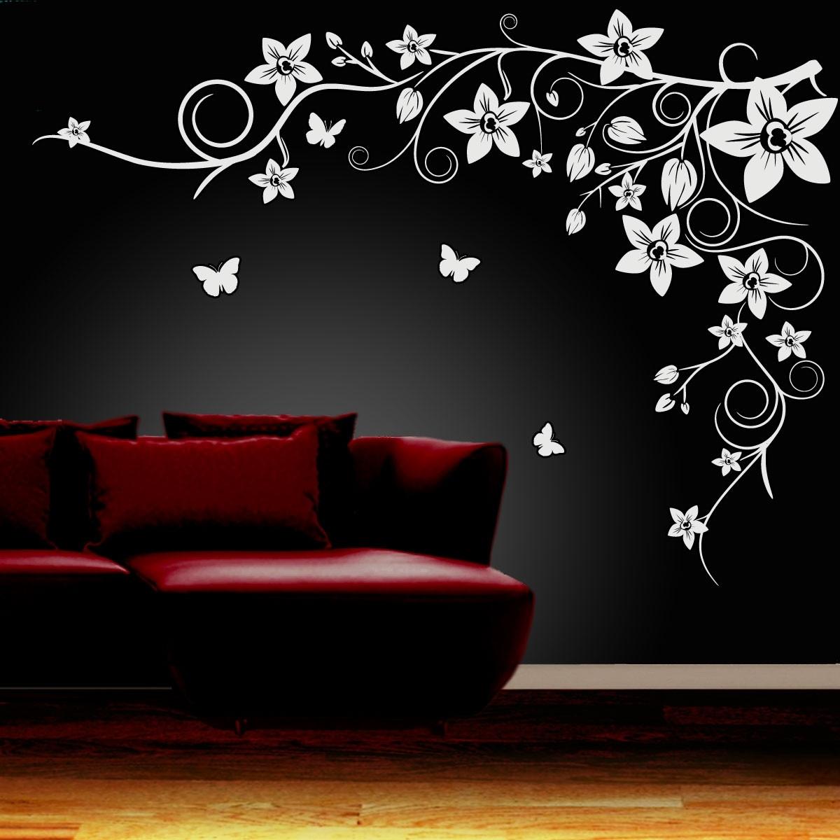 Flower Wall Art With Most Popular Wall Decor Flowers Best Of Wall Art Ideas Design Black Flower Wall (View 8 of 15)